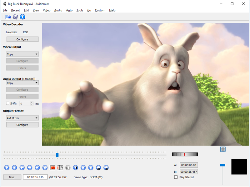 Avidemux free video editor download