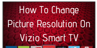 how to change my vizio from 480p to 1080p