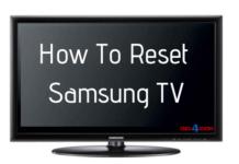 reset samsung tv