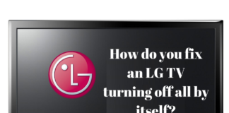 my lg tv keeps turning off when i turn it on