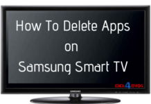 samsung smart tv remove apps