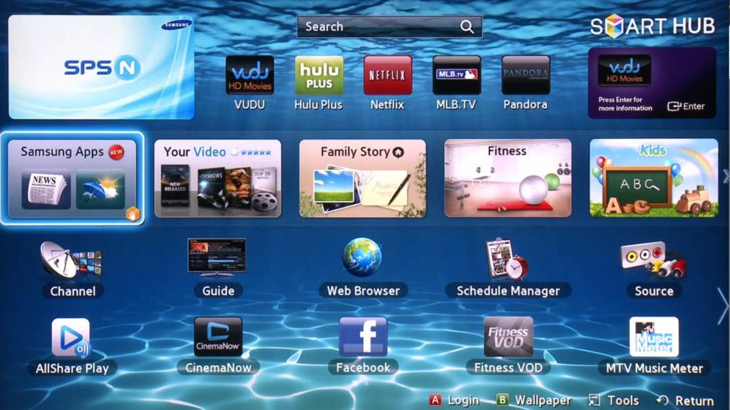 samsung smart tv apps download