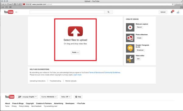 upload videos on YouTube