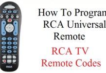 RCA universal remote code