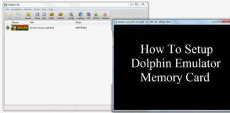 How to setup dolphin emulator memory card