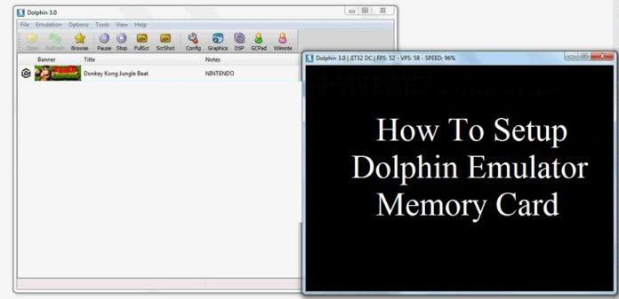 How to setup dolphin emulator memory card