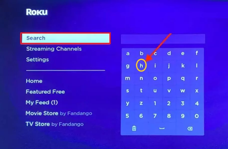 HBO max search on Roku