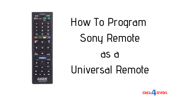 sony universal remote