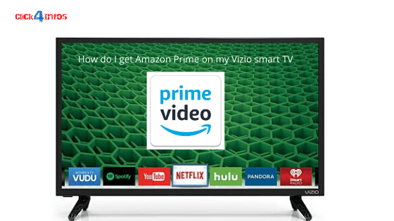 How do I get Amazon Prime on my Vizio smart TV