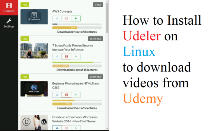 How to Install Udeler on Linux to download videos from Udemy