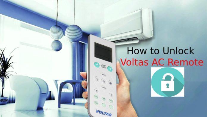 How to Unlock Voltas AC Remote
