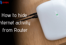 How to hide internet activity from Router