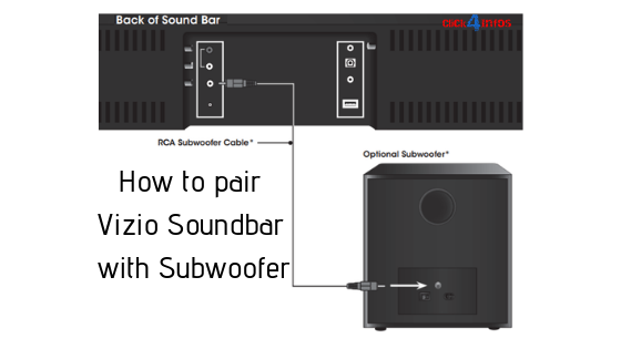 How to pair Vizio soundbar with subwoofer