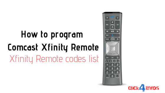 How To Program Comcast Xfinity Remote Remote Codes List