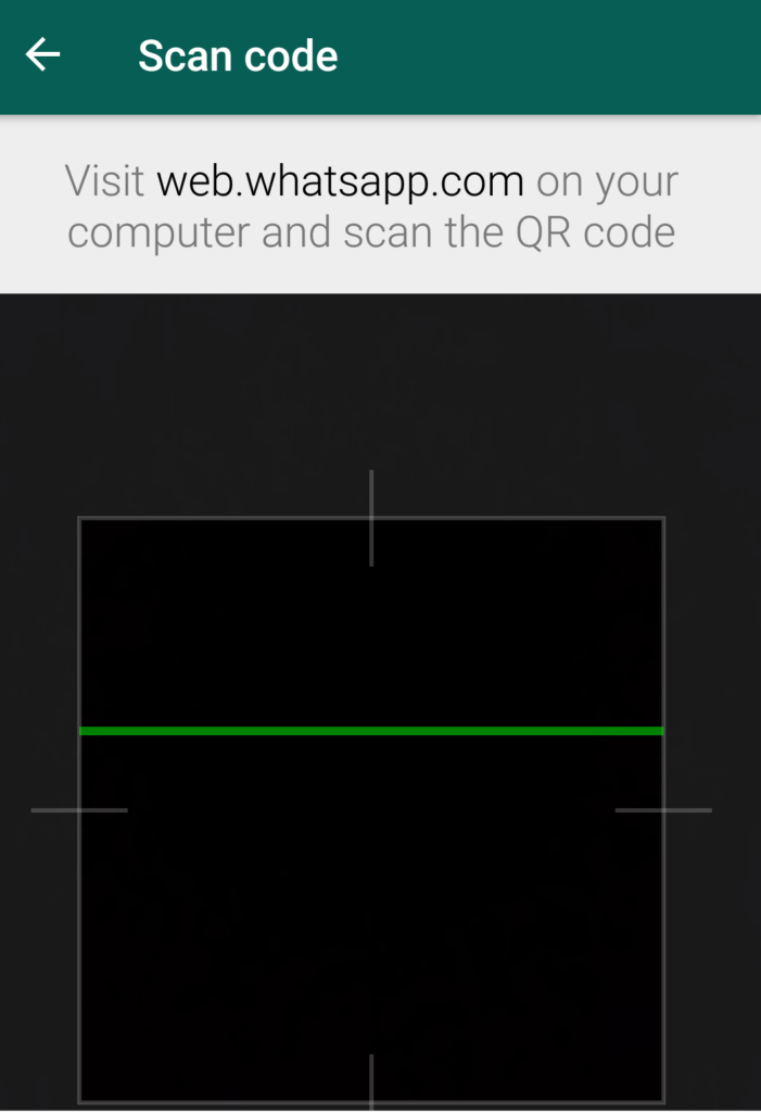whatsapp web scan mode
