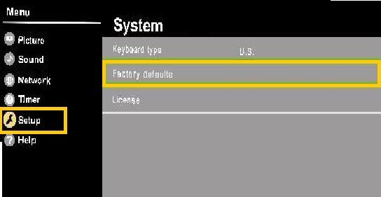 Panasonic tv factory settings reset by default