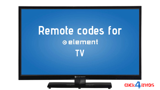 Remote codes for element tv