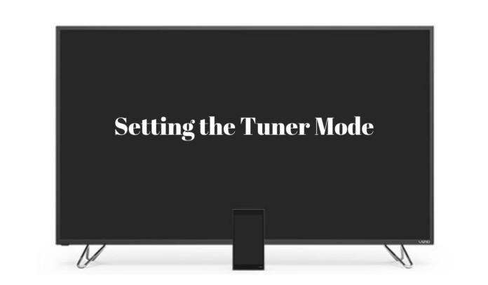vizio tv tuner setup