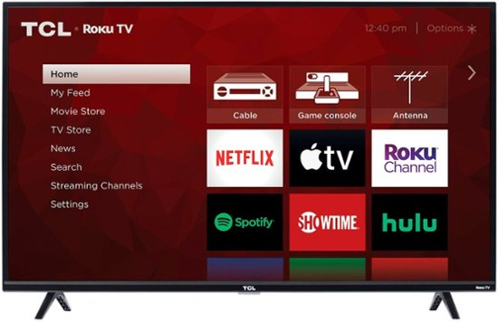 Where is the power button on tcl roku tv