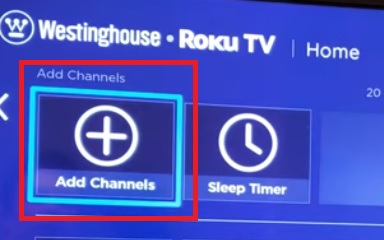 add channel on westinghouse tv