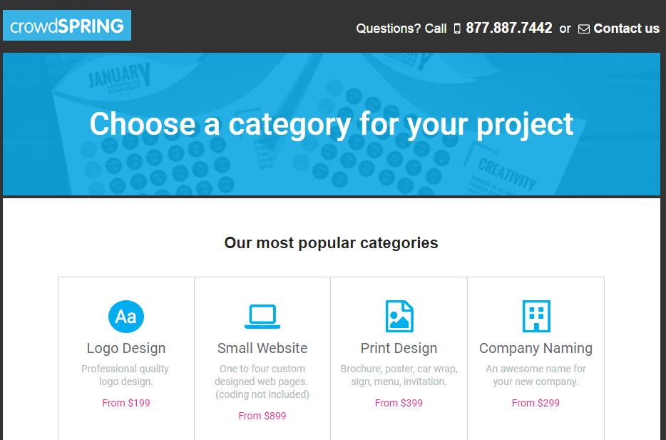 crowdspring best logo design contest sites