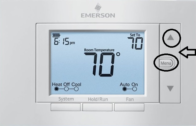 emerson hold the buttons for lock and unlock