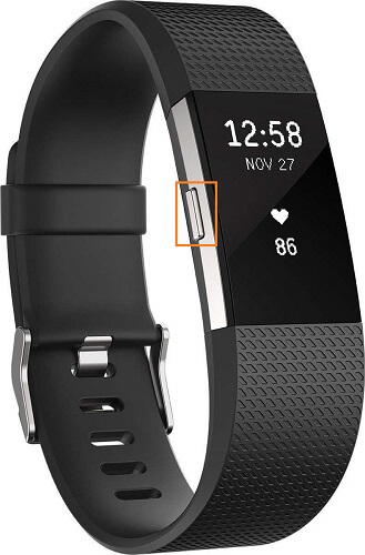 fitbit charge band reset button