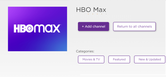 hbo max channel on roku