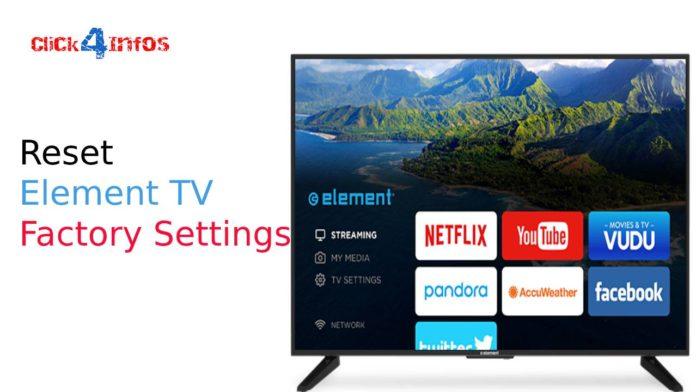 how do i reset my element tv