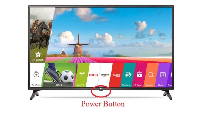 how to turn on lg smart tv without remote
