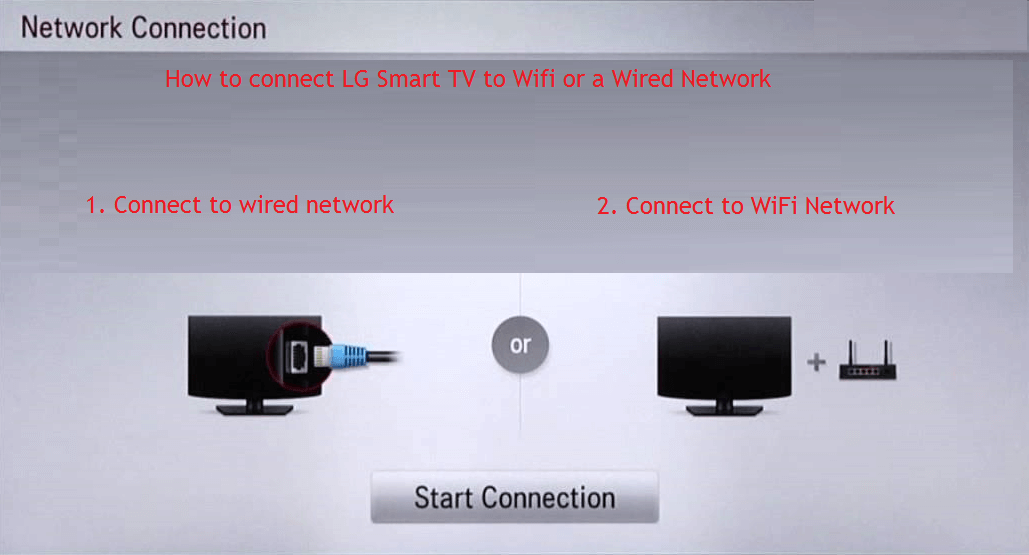 How to connect LG Smart TV to Wifi or a Wired Network