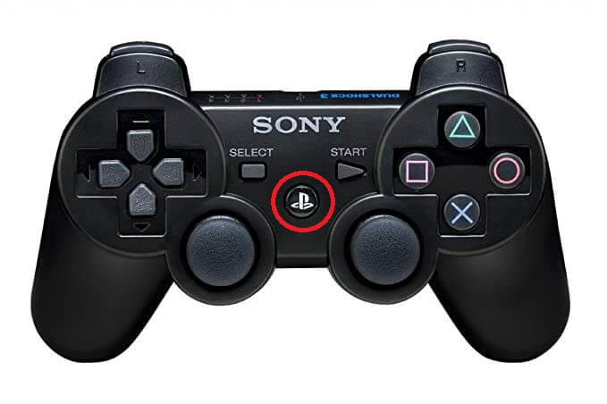 ps controller safe mode button