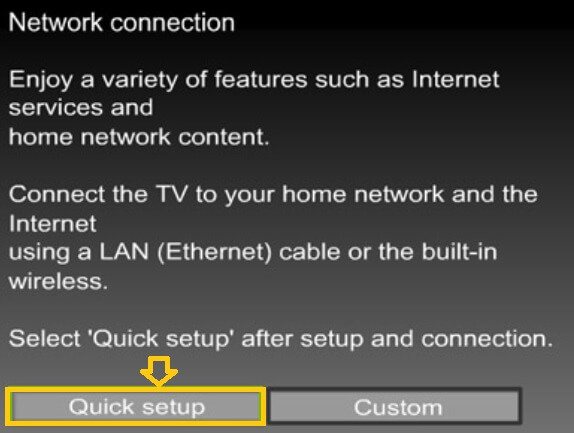quick wifi setup button