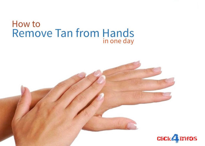 remove sun tan from hand