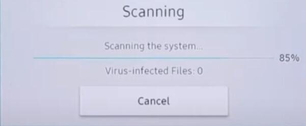 samsung tv virus scanning