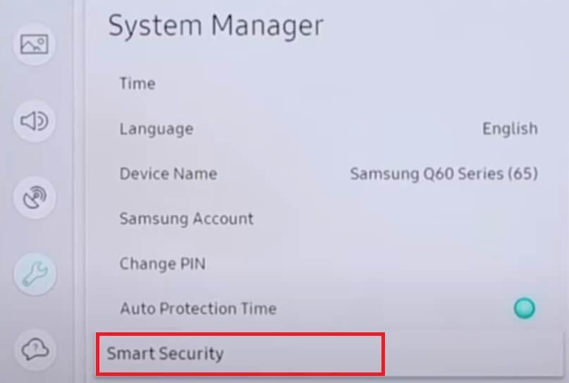 smasung tv smart security feature