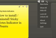 sticky notes indicator