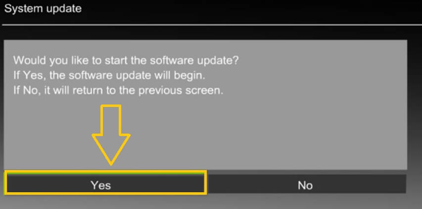 update Panasonic tv firmware