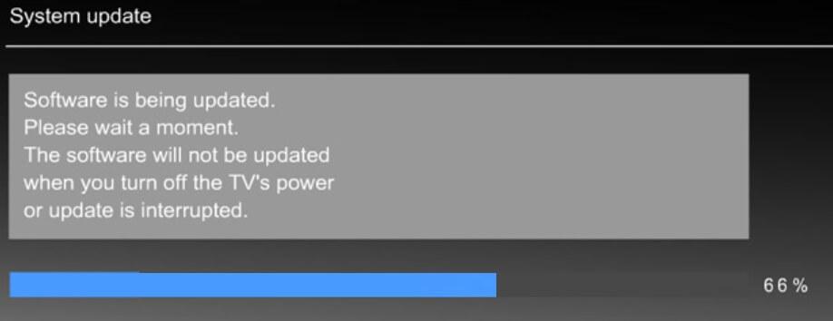 update software process on panasonic tv