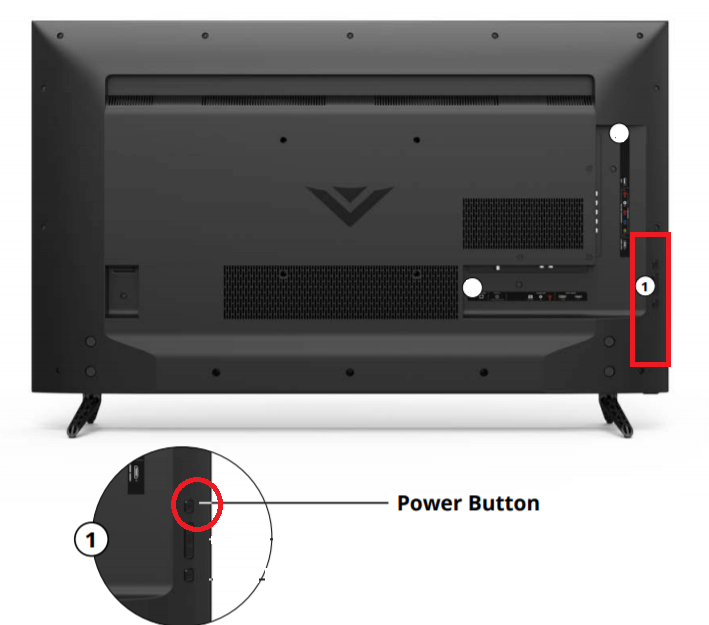 vizio e series power button
