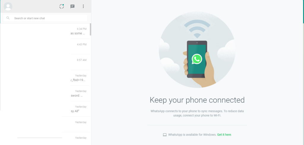 Desktop whatsapp web