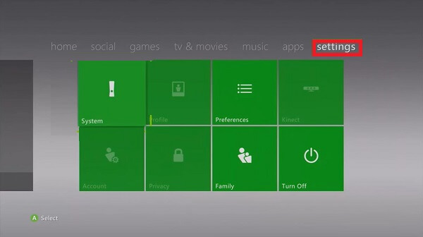 reset xbox 360 to factory settings by defaults